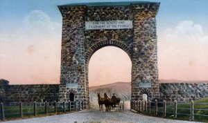 Roosevelt Arch -- entrance to Yellowstone National Park